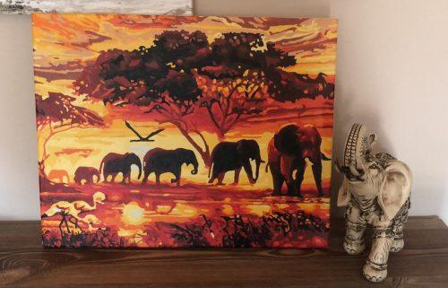 Elefántos számozott kifestő