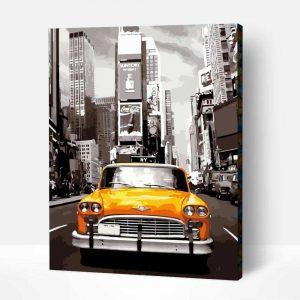 New Yorki taxi kifestő
