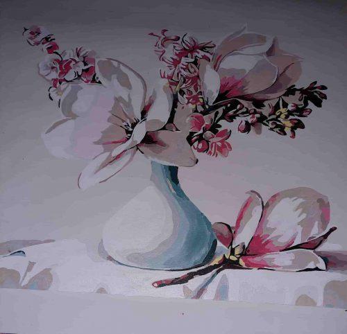 Virágcsokor vázában kifestő